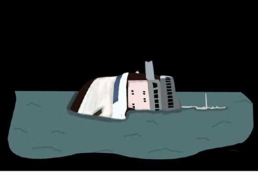 Kapal Keruk Bijih Timah Milik Koba Tin Terbalik di Bangka Tengah