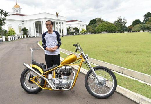 Paspampres Kaget, Jokowi Tiba-tiba Ngegas Motor Chopper