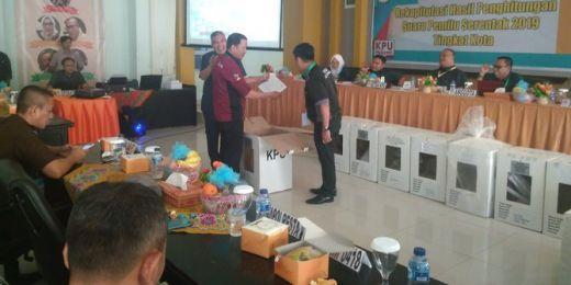 Tok... Tok... Hasil Pleno KPU Palembang: Jokowi-Maruf 38,52% dan Prabowo-Sandi 61,48%