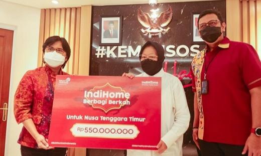 Lewat Mensos, IndiHome Serahkan Donasi Pelanggan untuk Masyarakat NTT