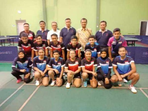 Timnas Tenis Meja Indonesia Latih Tanding Dengan Delapan Petenis Meja China