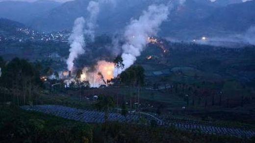Ini Penampakan Heli Jatuh di Lereng Gunung Butak Temanggung