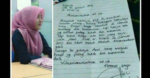 Goriau Lucu Ibu Guru Balas Surat Ayah Amel Isinya Tak