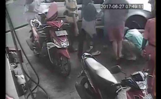 Tragis, Ditinggal Isi BBM, Bocah Perempuan Terlindas Mobil di SPBU Kuningan
