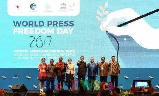 Hadiri Puncak PeringatanHari Kebebasan Pers Dunia, Jokowi: Selamat Datang di Rumah Jurnalis Paling Bebas di Dunia