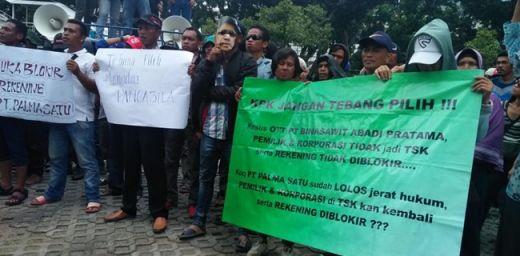 Gaji Belum Juga Turun, Buruh PT Palma Satu Riau Kembali Geruduk KPK