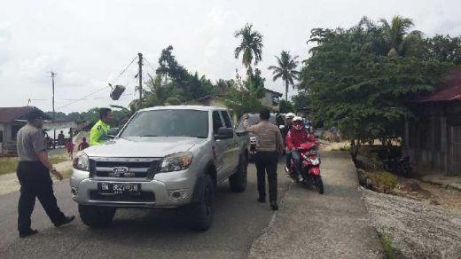 Hadang Pelarian 200-an Tahanan Rutan Sialang Bungkuk yang Kabur, Polres Kampar Gelar Razia