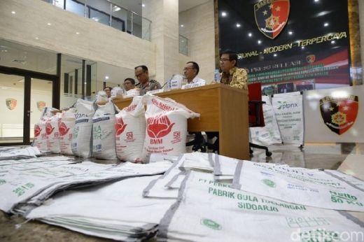 Polisi Bekuk Mafia Distribusi Gula Kristal Rafinasi