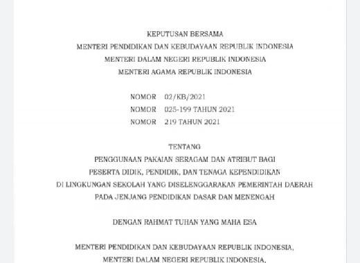 GG PAN Khawatir SKB 3 Menteri Dorong Liberalisme