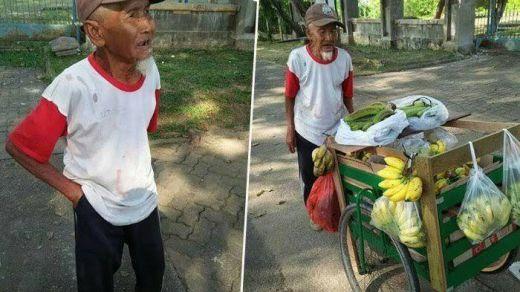 Ya Allah Kasihan, Kakek Penjual Pisang Ini Ditipu Lalu Dirampok Tiga Pria Bermobil