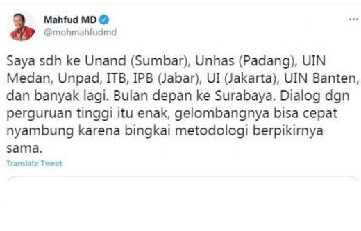 Mahfud Sebut Unhas di Padang, Netizen: Majikan dan Pembantu Nggak Jauh Beda