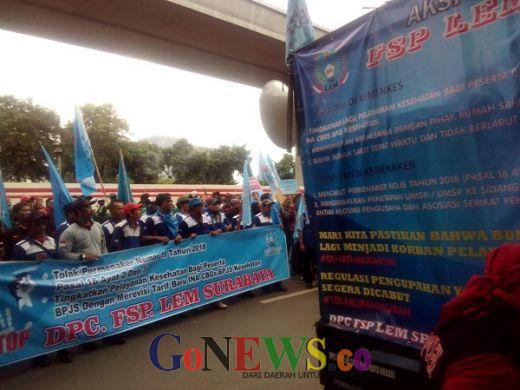 Ribuan Massa Buruh Tuntut Perbaikan Layanan BPJS Kesehatan
