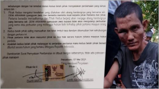 Pemukul Imam saat Solat Subuh di Pekanbaru Dianggap Gila Kok Bisa Damai dengan Materai 10.000?