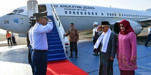 Kenakan Sarung ke Magelang, Wapres Maruf Resmikan Rumah Sakit Syubbanul Wathon