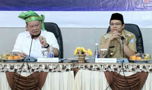 Kunjungan Kerja ke Bangka Belitung, LaNyalla Dapat Gelar Datuk Redendo