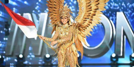 Wakili Indonesia di Miss Universe 2016, Kezia Warouw Kenakan Gaun Seberat 10 Kg