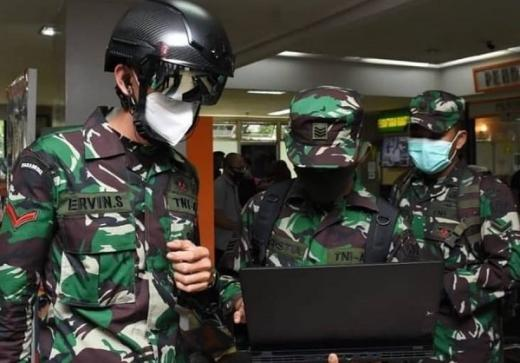 Lawan Corona, TNI AD Keluarkan Helm Deteksi Suhu Tubuh