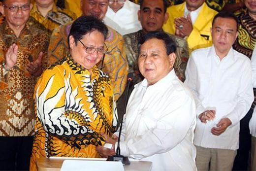 Isu Prabowo-Airlangga Maju Pilpres 2024, Golkar: Sah-sah Saja Kalau Cocok
