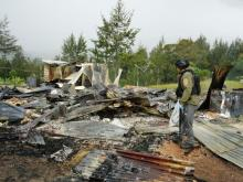 Begini Kondisi Rumah Pegawai Dinsos yang Dibakar Teroris KKB di Ilaga