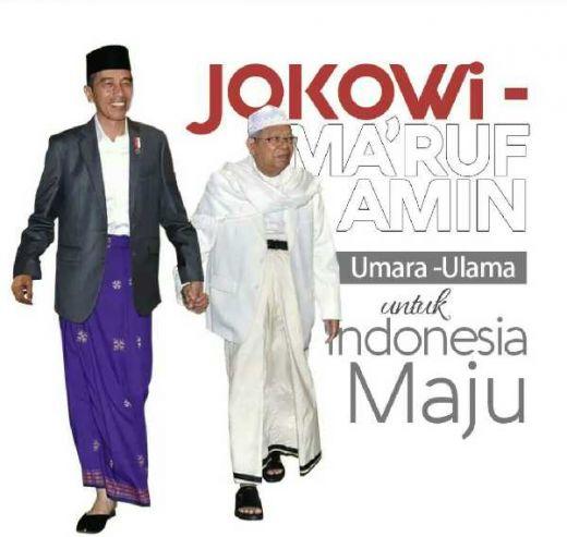 Sah... Jokowi Resmi Tunjuk Maruf Amin sebagai Cawapres