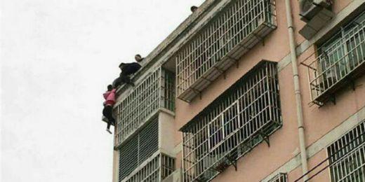Terjun dari Apartemen, Istri Selamat Gara-gara Suami Genggam Ujung Rambutnya Beberapa Menit, Begini Penampakannya