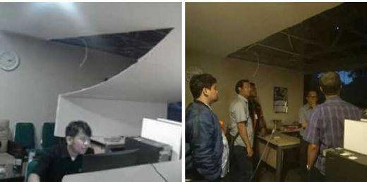 Proyek Perbaikan Media Center DPR RI yang Baru Selesai dengan Anggaran Ratusan Juta di Era Setya Novanto Ambruk