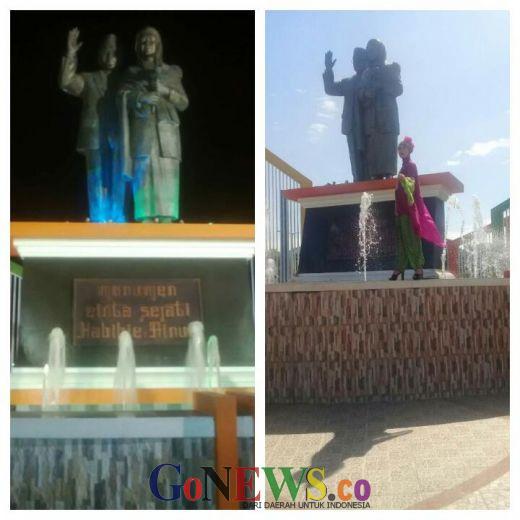 Monumen Cinta Sejati Habibie-Ainun, Ikon Kota Parepare yang Dibuat Seniman Padang, Sumatera Barat