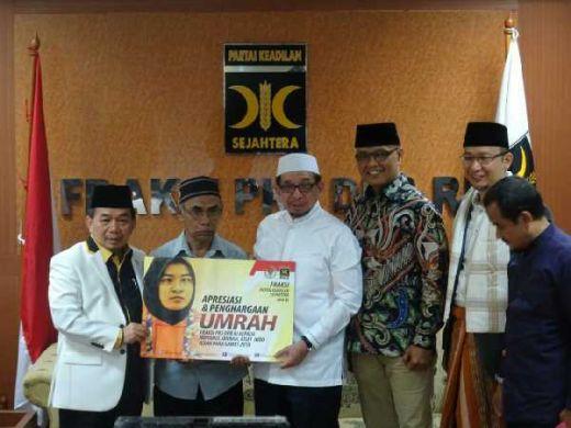 Fraksi PKS Wujudkan Umroh Untuk Atlet Tuna Netra asal Aceh Miftahul Jannah