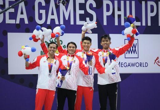 Renang Estafet 4x100 M Gaya Ganti Putra Raih Perak SEA Games 2019