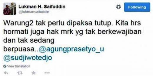 Kata Menteri Agama, Warung Makan Tak Perlu Tutup Siang Hari Selama Ramadhan, untuk Hormati yang Tidak Puasa