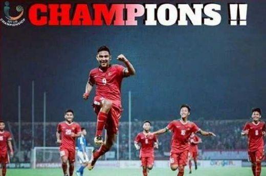 Piala AFF 2018, Indonesia Mengulang Sukses Menjadi Juara 5 Tahun yang Lalu