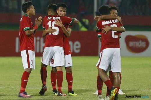 Priiiiit... Babak Pertama Usai, Garuda Muda Indonesia Patuk Gajah Thailand 1-0 di Final Piala AFF U-16