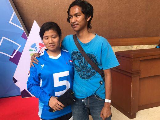 Wujud Cinta Wahid bagi Nita Sampai di Arena Goalball