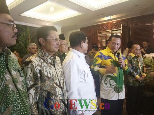 Jelang Pelantikan Presiden, Jajaran Pimpinan MPR Sambangi Kediaman Prabowo