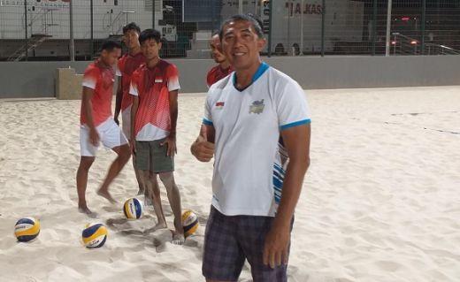 Tim Voli Pantai Indonesia Hadapi Tuan Rumah Qatar di Laga Perdana
