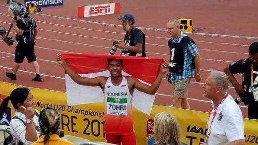 Luar Biasa, Mohammad Zohri Ukir Tinta Emas di Kejuaraan Dunia