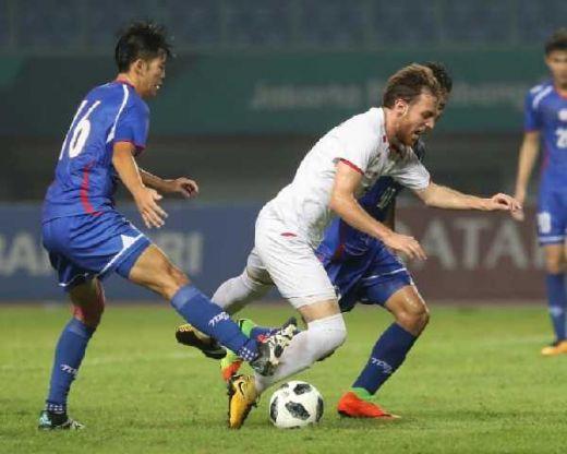 Cabor Sepakbola Asian Games, Palestina Bermain Imbang Tanpa Gol Lawan Chinese Taipei