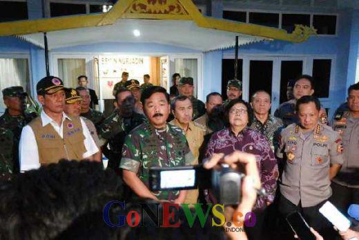 Atasi Karhutla, Menteri KLHK, Kepala BNPB, Panglima TNI dan Kapolri Tiba di Riau