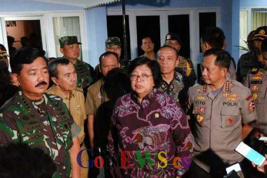 Pantau Karhutla Riau, Panglima TNI, Kapolri dan Rombongan Besok Mendarat di Langgam