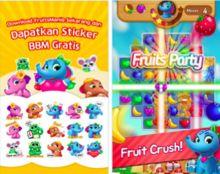 BBM Rilis Permainan Match-3 Puzzle Fruits Mania with BBM di Indonesia