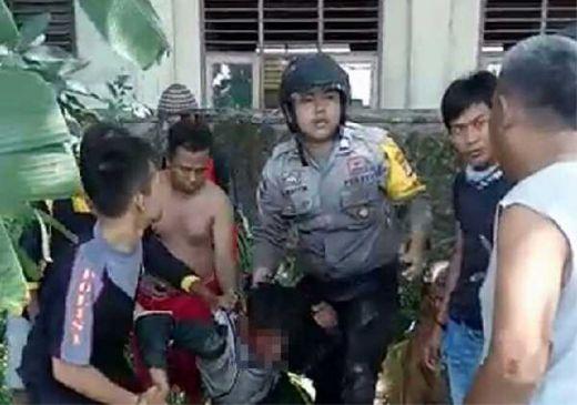 Aksi Heroik Polisi Gagalkan Aksi Pencurian Sepeda Motor di Serang