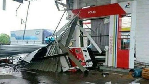 Kecepatan Badai yang Rusak Rest Area Km 166 Cipali Capai 61 Km/Jam
