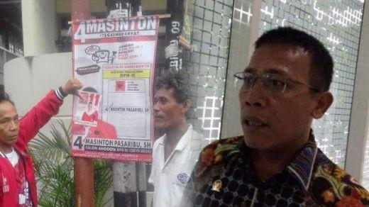 Spanduk Ditempelin Stiker Caleg PSI, Masinton PDIP: Bos, Ajarin Relawan Anda Hormati Atribut Orang Lain!