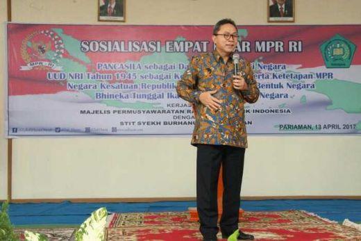 Sosialisasi Empat Pilar di Pariaman, Ketua MPR: Saatnya Bersatu Hentikan Menyebar Kebencian