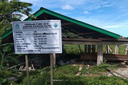 Gawat... Dua Proyek Dana Desa Mangkrak dan Ambruk, Inspektorat Aceh Jaya dan Polisi Malah Belum Tahu