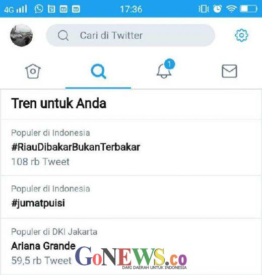 RiauDibakarBukanTerbakar Jadi Trending Topik, Netizen Tagih Janji Jokowi