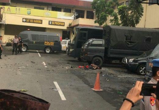 Serangan Bom Bunuh Diri di Medan, Seorang Polisi Terluka