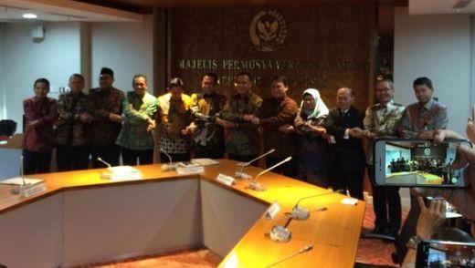 Sambangi MPR, Pimpinan KPK Bahas Tupoksi dan UU KPK Baru
