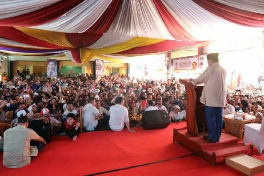 Di Jambi, Prabowo Berdoa Agar Bisa Mengemban Amanah Rakyat