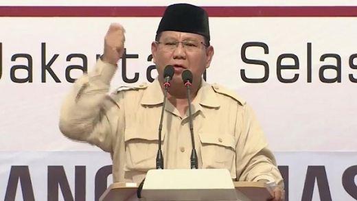 02 Dicurangi, Prabowo: Kita Alami Pemerkosaan Demokrasi!